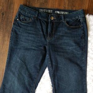 DKNY Jeans 10 Petite Soho Boot Denim Womens